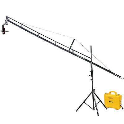 Proaim 14ft DSLR Camera Jib Tripod Pan-Tilt Head LCD Monitor Arm DSLR hdv Cinema
