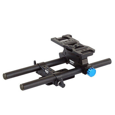 Filmcity DSLR Camera Cheese Baseplate Tripod Mounting Adapter 15mm Rod Support