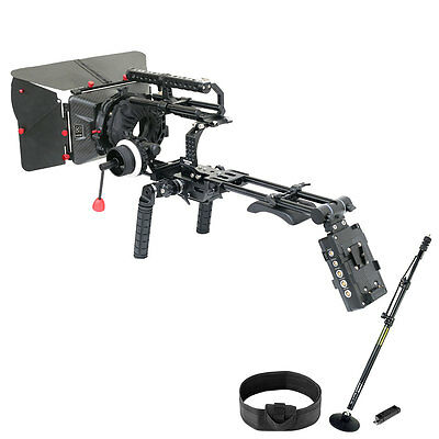 Camtree Camera Cage Kit w Matte box Follow Focus Shoulder Rig for Sony NEX-FS700