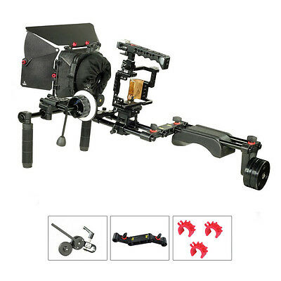 Filmcity Shoulder Steady Rig Camera Cage Follow Focus Matte Box for Sony a7R II
