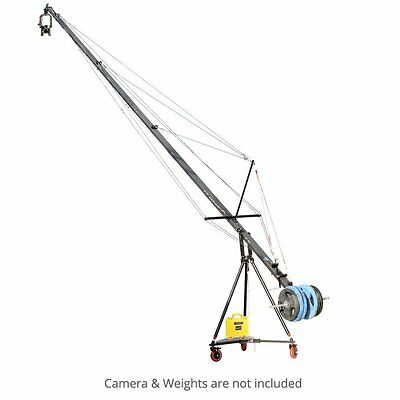 Proaim 32ft Wave 5 Jib crane with Gold Pan-Tilt head, Floor Dolly & Tripod Stand