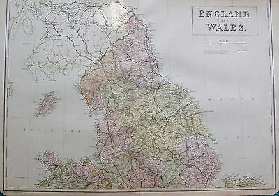 1860 Ca ANTIQUE MAP- ENGLAND AND WALES NORTH, ISLE OF MAN