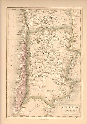1850 Antique Map-Chile, La Plata And Part Of Bolivia