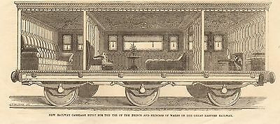 1864-Antique Print-New Railway Carriage For Pr Of Wales, Great Eastern