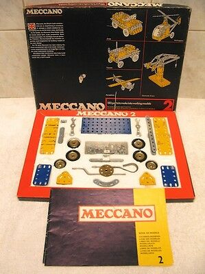 Vintage Meccano Set Number 2 Boxed with Manuals