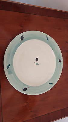 Poole Pottery Fresco Light Green Hand painted Dinner Plates 10.5""