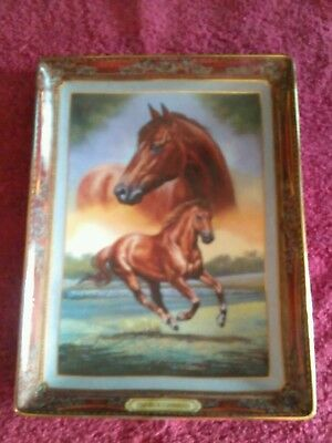 Thoroughbred: Portrait Of A Champion The Franklin Mint  Porcelin Plate RARE