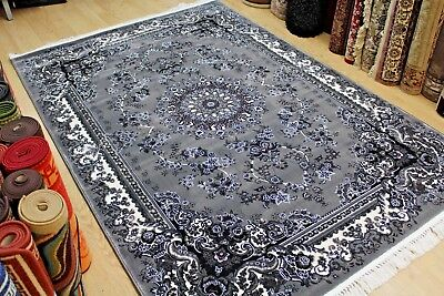 Persian Oriental Design RUG Super Soft High QUALITY  Grey Rug NOW 35% RRP