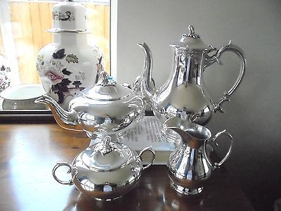 Stunning 4 Piece Silver Plated Tea Service