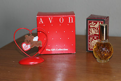 Avon Loves Notes Valentine Ornament BEAR- New - VINTAGE +Avon Brocade Cologne