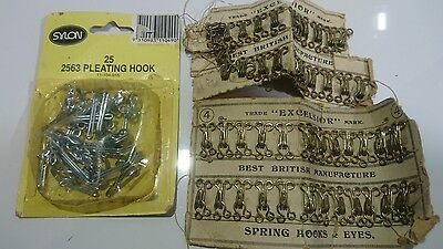 Vintage Craft Excelsior Spring Hooks & Eyes + Pleating Hooks
