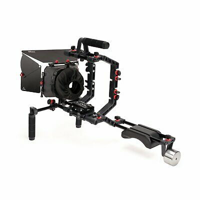 FILMCITY Matte box Camera cage 15mm rods quick release shoulder support rig kit