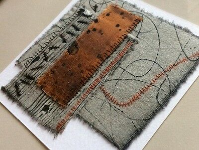 Original Textile / Fabric Art - Modern Abstract Embroidery By Exhibiting Artist