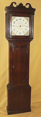 Antique Oak Longcase Grandfather Clock WOOTTON BASSETT