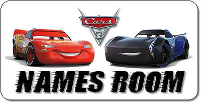 Personalised Disney Cars 3 Aluminium Door Name Plaque