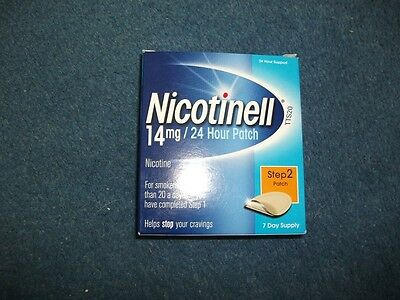 Nicotinell Nicotine 14 mg 24-Hour Patch, Step 2 - 7 Days Supply Exp:06/2018