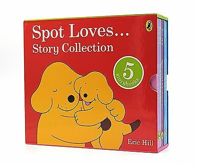 NEW Spot Loves Story 5 Book Box Set Collection By Eric Hill Hardcover
