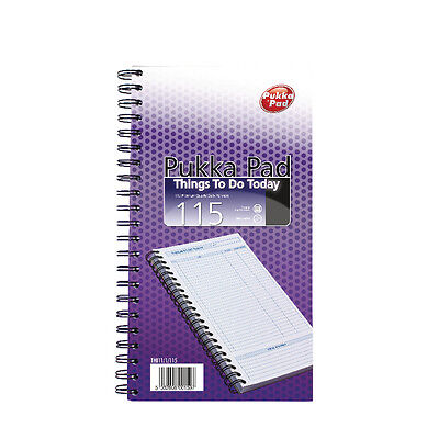 Pukka Pad, Things To Do Today Note Book 80gsm Pad 152mm x 280mm New