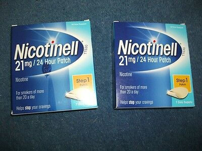 Nicotinell Nicotine 21 mg 24-Hour Patch, Step 1 - 14 Days Supply Exp:05/2018