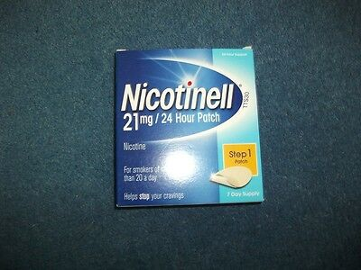 Nicotinell Nicotine 21 mg 24-Hour Patch, Step 1 - 7 Days Supply Exp:02/2018