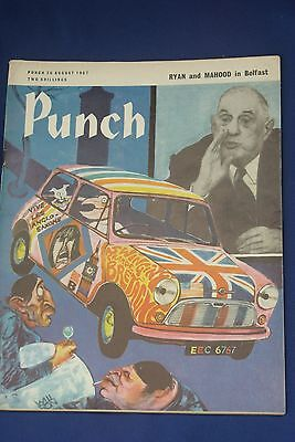 Vintage Punch Magazine Issue Date 30Th August 1967 - Used