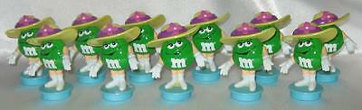 11 Vintage M&Ms Easter Toppers Green Female Yellow Easter Bonnet New M&M
