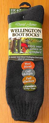Ladies Wool Blend Gold Edition Wellington Boot Gardening Socks Size 4-7