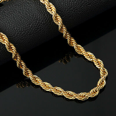 Italian made 4mm 24inch 14k Gold rope chain