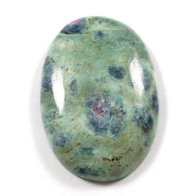 64.75 ct Natural Ruby Fuchsite Gemstone Oval Loose Beautiful Quality Cabochon
