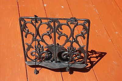 Antique / Vintage Ornate Cast Iron Bible / Book Holder Stand