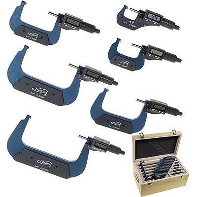 "iGaging 0-6"" Digital Electronic Outside Micrometer Set 0-1"" 1-2"" 2-3"" 3-4"" 4-..."