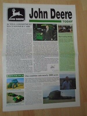 John Deere Today Winter 1993  New For 1994 Tractor  Leaflet 3246F