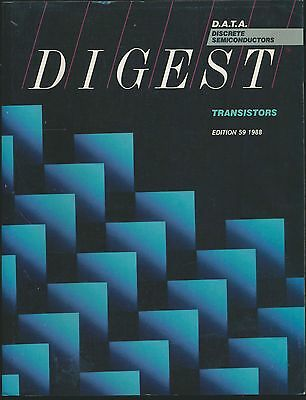 D.A.T.A. databook Transistors 1988 includes Microwave, Germanium, Mosfet types