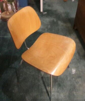 Vintage Eames DCM chair Herman Miller Early Label