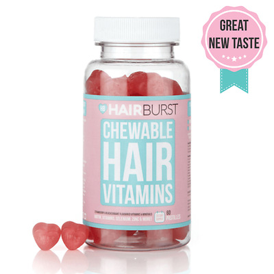 HAIRBURST  CHEWABLE Vitamins For Hair Growth One Month Supply 60 GUMMIES