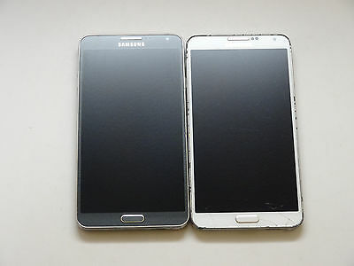Lot of 2 Samsung Galaxy Note 3 SM-N900A AT&T Smartphones Good LCD AS-IS GSM ~