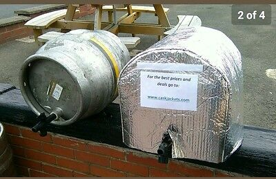 Insulated 9 Gallon Festival Cask cover Jacket,  Firkin Cover, Cask Cooling
