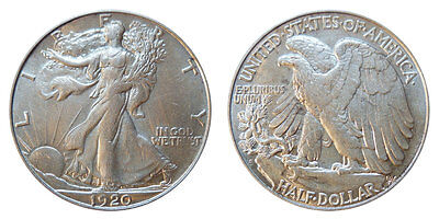 1 Walking Liberty Half Dollar - 90% Silver Content - Mix Lot from Estate Sale
