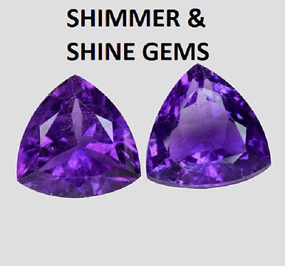 Lab Created Violet Trillion  6X6Mm Diamond Free & Fast Delivery