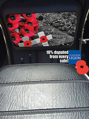 Scomadi glove Tool Box Sticker Wrap Decal Rememberance Poppy day lest we forget