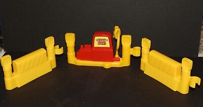 Fisher Price Yellow 2 Plain Fence Garage 1 Gas Station Pump Clip-On