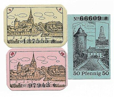 **1919-20 DANNENBERG Germany Banknote- FAMOUS TOWER~ Complete Set German Notgeld