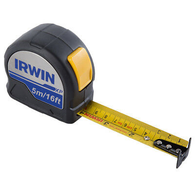Irwin Soft Grip Nylon Coated Double Sided Pocket Tape Measure -5m/16ft