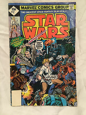 Vintage Star Wars Vol 1, #2 Marvel Comic Book - Not A Reprint! Very Good Cond!