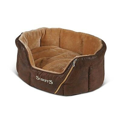Scruffs Ranger Small Faux Suede Pet Dog Bed - Brown - 46 x 36cm