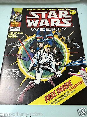 star wars weekly uk 1st edition 1978 comic 10p with bonus x-fighter