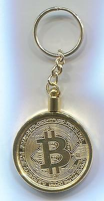 Collectible Gold Plated Bitcoin Coin in Bezel for Gift Art Collection