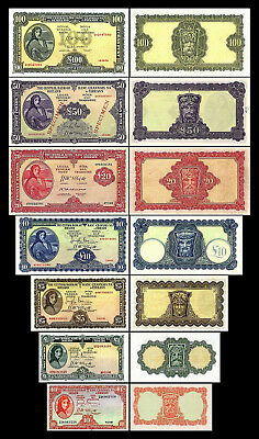 2x 10 Shillings,1,5,10,20,50,100 Irish Pounds-Issue 1945-1960 - 14 Banknotes -04