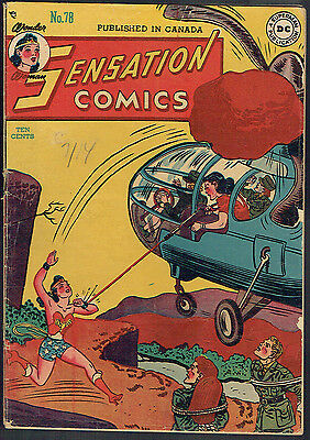 SENSATION COMICS 78  VG-/3.5  -  Wonder Woman multi-tasks like no one else!