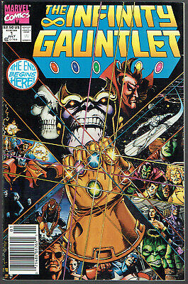 INFINITY GAUNTLET  1  VF/NM/9.0  -  Classic 1st issue!